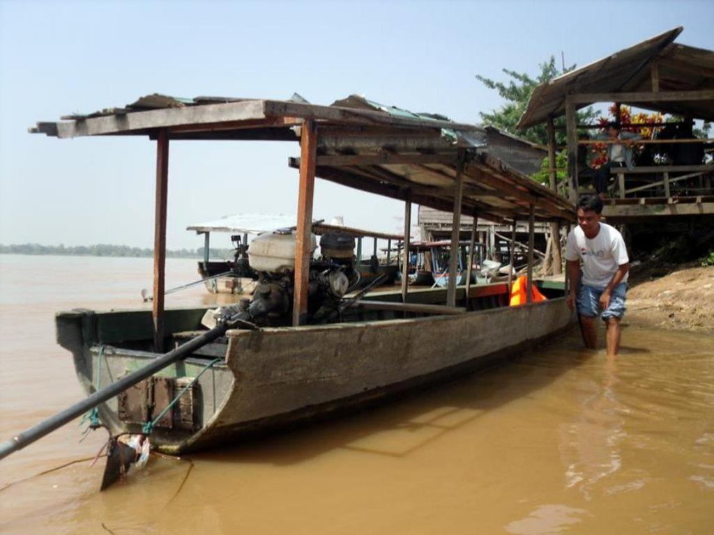 Passenger boat, Cambodia to Laos border