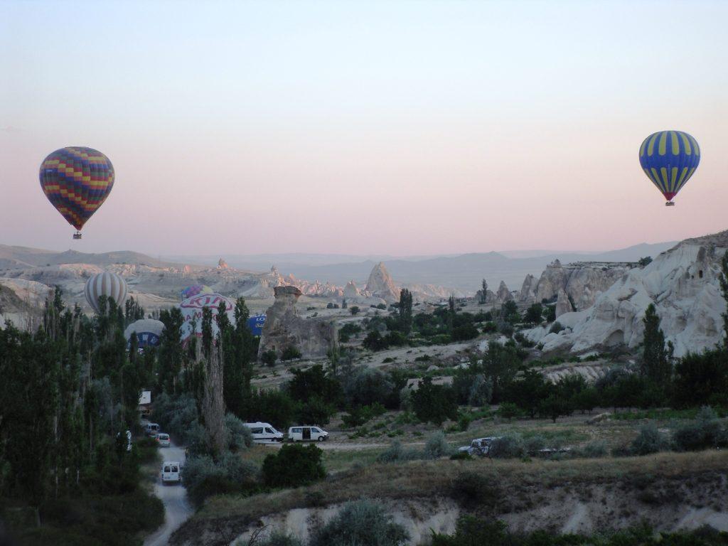 Sun rising over Cappadocia