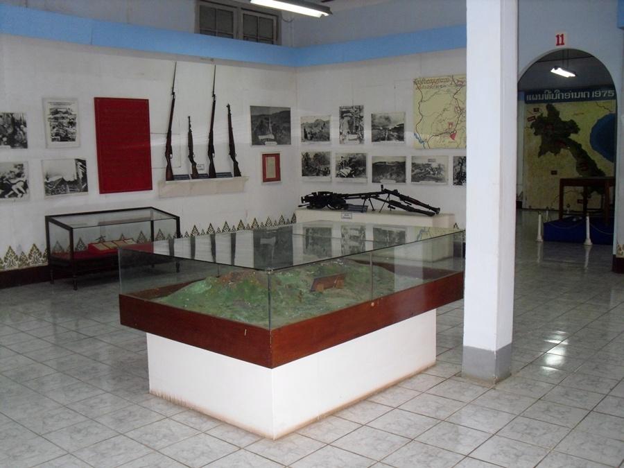 Inside Laos museum