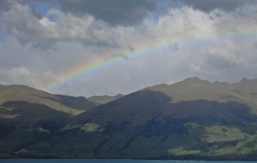 Photo Flashbacks: Rainbow over Lake Wanaka…