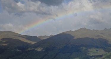 Photo Flashbacks: Rainbow over Lake Wanaka…