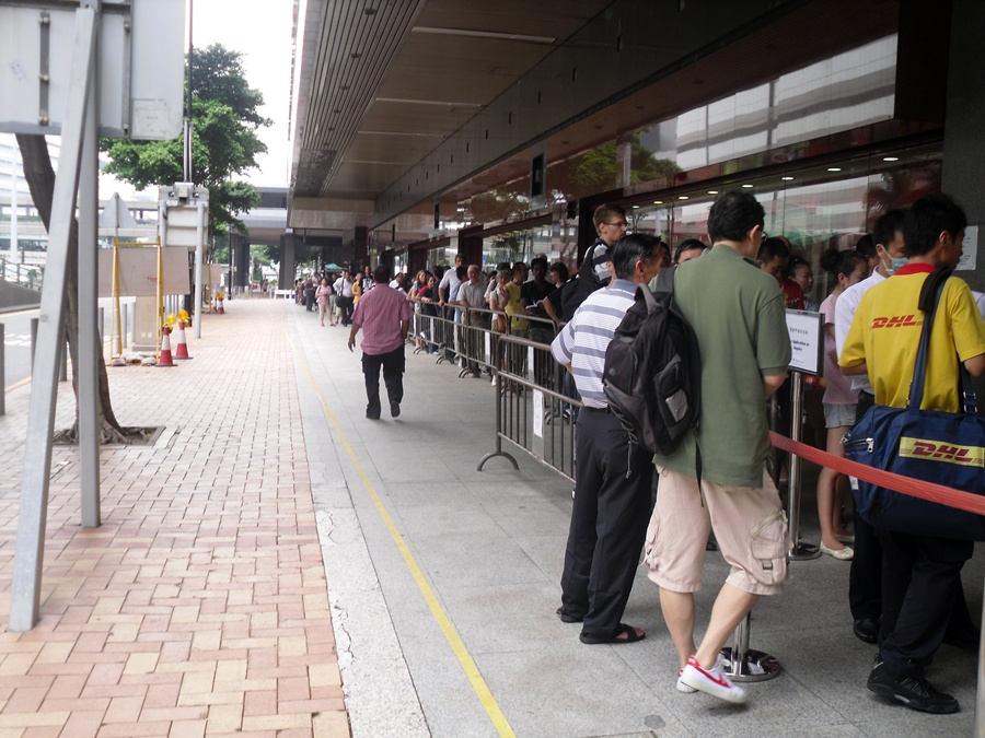 Monday Morning Queue at Chinese embassy, Hong Kong