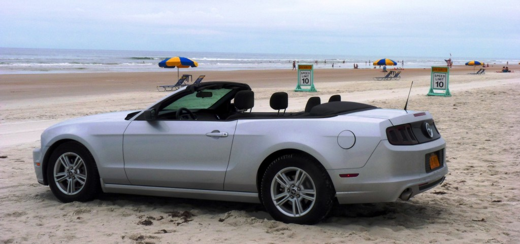 Mustang on Daytona Beach