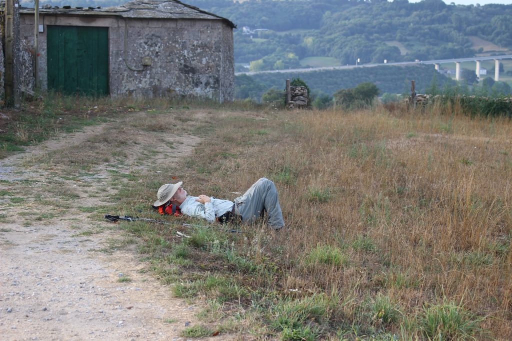 Relaxing on the Camino de Santiago Walk