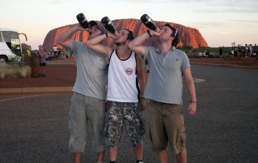 Photo Flashback: The Boys at Ayers Rock…